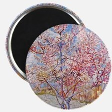 Van Gogh Peach Trees in Blossom Magnets