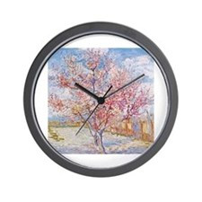 Van Gogh Peach Trees in Blossom Wall Clock