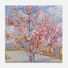 Van Gogh Peach Trees in Blossom Tile Coaster