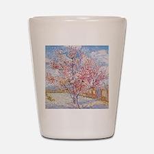 Van Gogh Peach Trees in Blossom Shot Glass