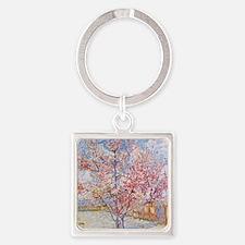 Van Gogh Peach Trees in Blossom Keychains