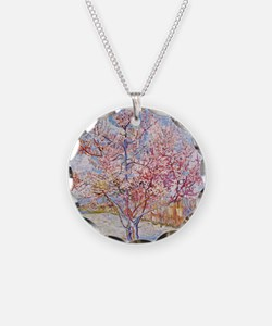 Van Gogh Peach Trees in Blossom Necklace