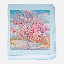 Van Gogh Peach Trees in Blossom baby blanket