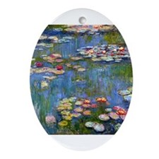 Monet Water lilies Ornament (Oval)