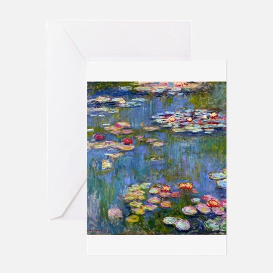Monet Water lilies Greeting Cards