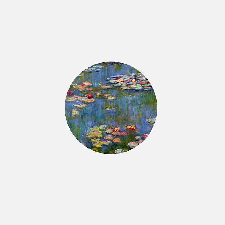 Monet Water lilies Mini Button