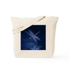 Blue Dragonfly at Night Tote Bag