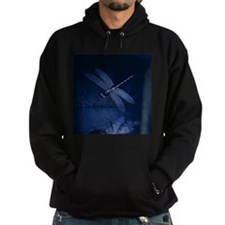 Blue Dragonfly at Night Hoodie