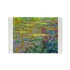 Water lilies by Claude Monet Magnets
