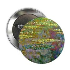 """Water lilies by Claude Monet 2.25"""" Button (10 pack"""