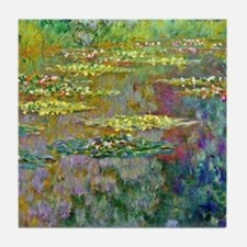 Water lilies by Claude Monet Tile Coaster