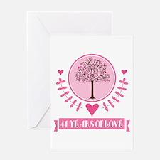 41st Anniversary Love Tree Greeting Card