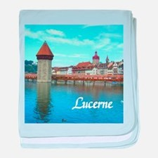 Lucerne souvenir baby blanket