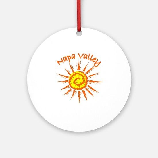 Napa Valley, California Ornament (Round)