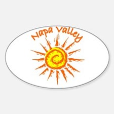 Napa Valley, California Oval Decal