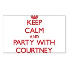 Keep Calm and Party with Courtney Decal