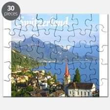 Switzerland view over lake Puzzle