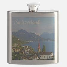 Switzerland view over lake Flask