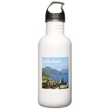 Switzerland view over lake Water Bottle