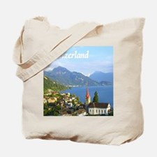 Switzerland view over lake Tote Bag
