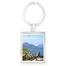 Switzerland view over lake Keychains
