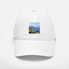 Switzerland view over lake Baseball Cap