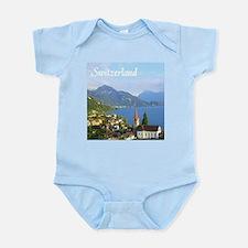 Switzerland view over lake Body Suit
