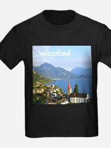 Switzerland view over lake T-Shirt