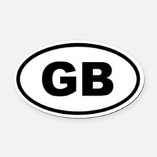 Great Britain GB Oval Car Magnet