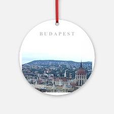 Budapest Hungary souvenir Ornament (Round)