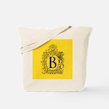 Yellow Personalized Monogram Tote Bag
