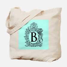 Sky Blue Personalized Monogram Tote Bag
