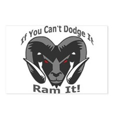 If You Cant Dodge It Ram It Postcards (Package of