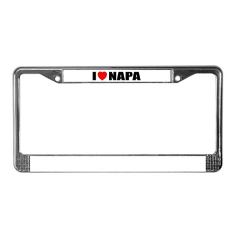 I Love Napa Valley, Californi License Plate Frame