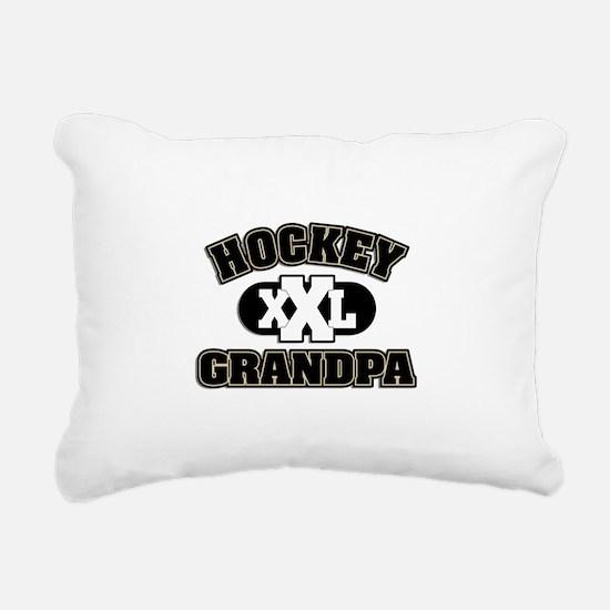 Hockey Grandpa Rectangular Canvas Pillow