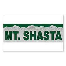 Mt. Shasta Rectangle Decal