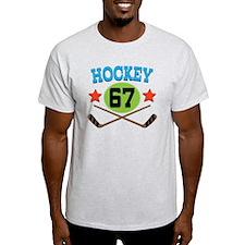Hockey Player Number 67 T-Shirt