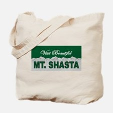 Visit Beautiful Mt. Shasta Tote Bag