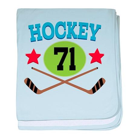Hockey Player Number 71 baby blanket