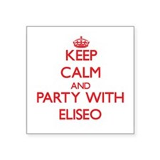 Keep Calm and Party with Eliseo Sticker