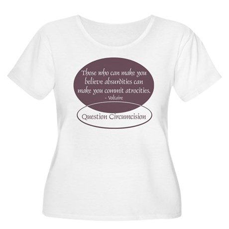 Voltaire Quote Women's Plus Size Scoop Neck T-Shir