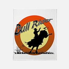 Bull Rider Throw Blanket