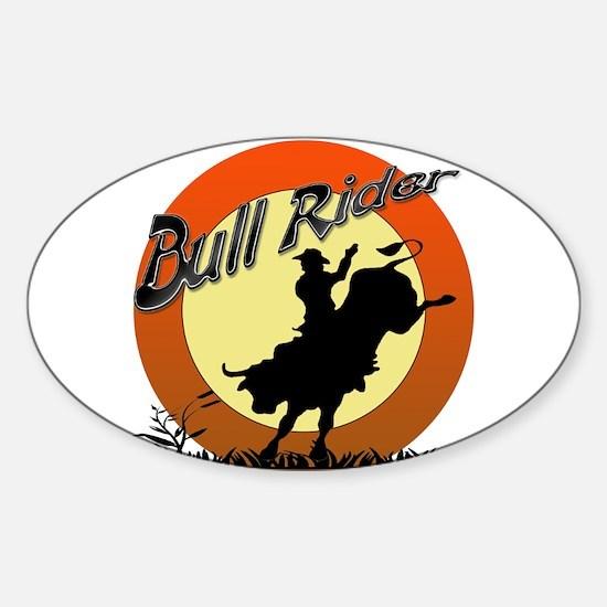 Bull Rider Sticker (Oval)