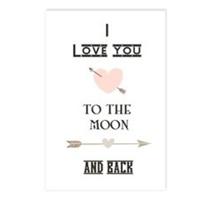 I Love You To The Moon And Back Postcards (Package