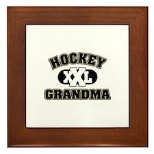 Hockey Grandma Framed Tile