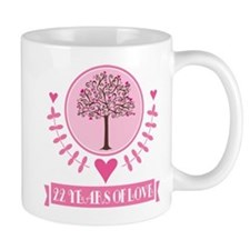 22nd Anniversary Love Tree Mug