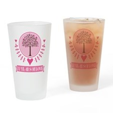 22nd Anniversary Love Tree Drinking Glass