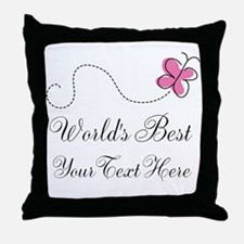 Personalized Worlds Best butterfly design Throw Pi