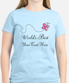 Personalized Worlds Best butterfly design T-Shirt