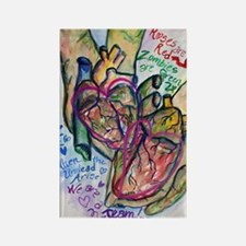 Zombie Love Poetry Rectangle Refrigerator Magnet